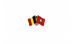 Freundschaftspin Belgien - Schweiz - 22 mm