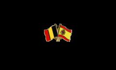 Freundschaftspin Belgien - Spanien - 22 mm
