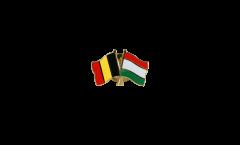 Freundschaftspin Belgien - Ungarn - 22 mm