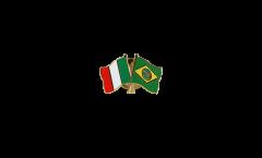 Freundschaftspin Italien - Brasilien - 22 mm