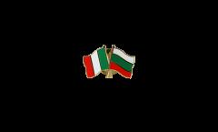Freundschaftspin Italien - Bulgarien - 22 mm