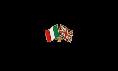 Freundschaftspin Italien - Großbritannien - 22 mm