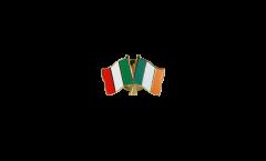 Freundschaftspin Italien - Irland - 22 mm