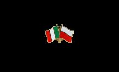 Freundschaftspin Italien - Polen - 22 mm