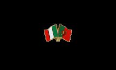 Freundschaftspin Italien - Portugal - 22 mm