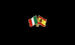 Freundschaftspin Italien - Spanien - 22 mm