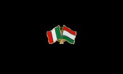 Freundschaftspin Italien - Ungarn - 22 mm