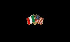 Freundschaftspin Italien - USA - 22 mm