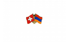 Freundschaftspin Schweiz - Armenien - 22 mm
