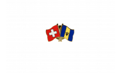 Freundschaftspin Schweiz - Barbados - 22 mm