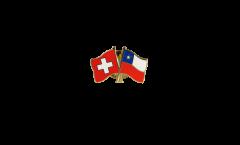 Freundschaftspin Schweiz - Chile - 22 mm