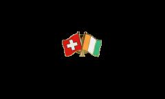 Freundschaftspin Schweiz - Elfenbeinküste - 22 mm