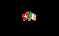 Freundschaftspin Schweiz - Irland - 22 mm