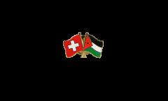 Freundschaftspin Schweiz - Jordanien - 22 mm