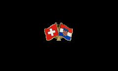 Freundschaftspin Schweiz - Kroatien - 22 mm