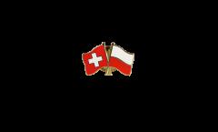 Freundschaftspin Schweiz - Polen - 22 mm