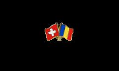 Freundschaftspin Schweiz - Rumänien - 22 mm