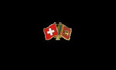 Freundschaftspin Schweiz - Sri Lanka - 22 mm