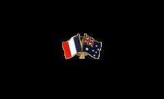 Freundschaftspin Frankreich - Australien - 22 mm