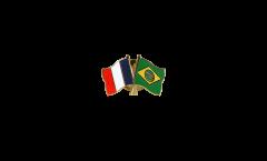 Freundschaftspin Frankreich - Brasilien - 22 mm