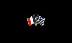 Freundschaftspin Frankreich - Griechenland - 22 mm