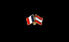 Freundschaftspin Frankreich - Lettland - 22 mm