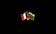 Freundschaftspin Frankreich - Litauen - 22 mm