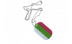 Dog Tag Bulgarien - 3 x 5 cm