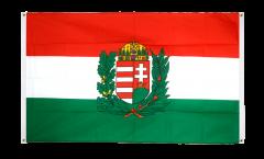 Balkonflagge Ungarn mit Wappen - 90 x 150 cm