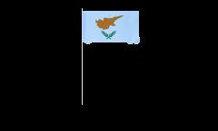 Papierfahnen Zypern - 12 x 24 cm
