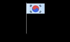 Papierfahnen Südkorea - 12 x 24 cm