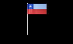 Papierfahnen Chile - 12 x 24 cm