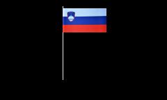 Papierfahnen Slowenien - 12 x 24 cm