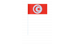 Papierfahnen Tunesien - 12 x 24 cm