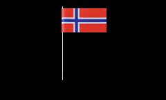 Papierfahnen Norwegen - 12 x 24 cm
