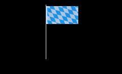 Papierfahnen Deutschland Bayern ohne Wappen - 12 x 24 cm