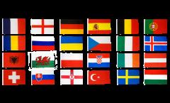 Flaggen Set EM 2016 - 90 x 150 cm