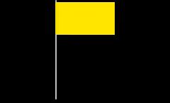 Papierfahnen Einfarbig Gelb - 12 x 24 cm