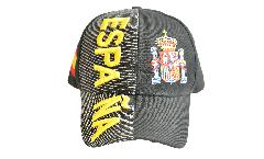 Cap / Kappe Spanien Espana schwarz, nation