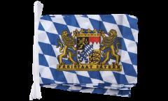 Fahnenkette Deutschland Bayern Freistaat - 30 x 45 cm
