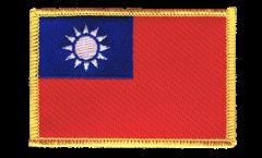 Aufnäher Taiwan - 8 x 6 cm