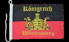 Bootsfahne Deutschland Württemberg mit Schrift - 30 x 40 cm