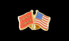 Freundschaftspin Basse Normandie - USA - 22 mm