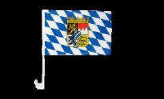 Autofahne Deutschland Bayern mit Wappen - 30 x 40 cm