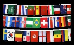 Flaggenkette Fußball 2018 - 15 x 22 cm
