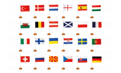 EM Tischflaggen Set Fußball 2021 - 15 x 22 cm