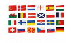 EM Flaggen Set Fußball 2021 - 90 x 150 cm