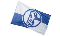 Hissflagge FC Schalke 04 Karo - 150 x 250 cm