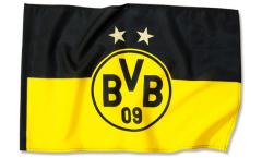 Hissflagge Borussia Dortmund Logo Sterne - 100 x 150 cm