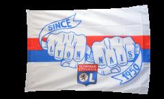 Flagge mit Hohlsaum Olympique Lyon  - 100 x 140 cm